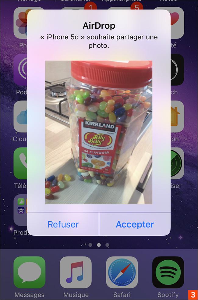 Comment échanger instantanément des photos avec AirDrop ?