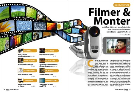 Dossier de Une : Filmer et Monter.
