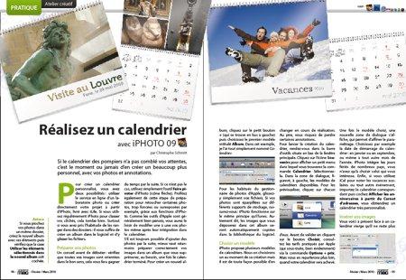 Réalisez un calendrier 2010 avec iPhoto.