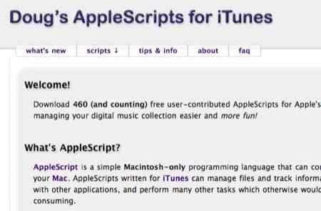 iTunes • Le plein de scripts