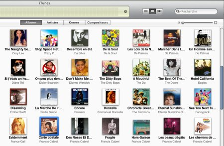 iTunes • Plus d'options pour le mode Grille