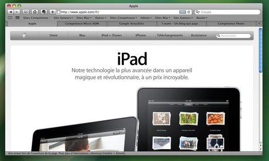 Safari • Fusionner toutes les fenêtres