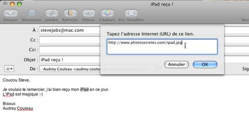 Mail • Ajouter un lien actif