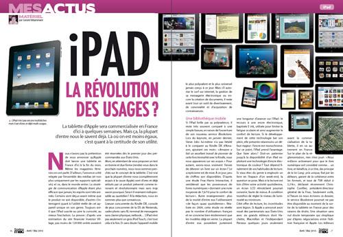 MES ACTUS • iPad : la révolution des usages