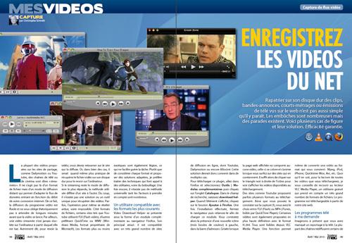 MES VIDEOS • Enregistrez facilement les vidéos du net
