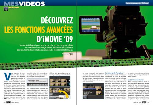 MES VIDEOS • Découvrez les fonctions avancées d'iMovie '09