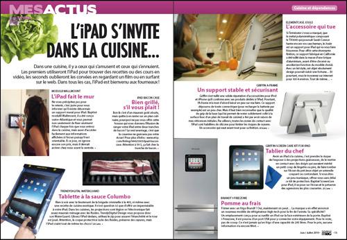 MES ACTUS • iPad • L'iPad s'invite dans la cuisine