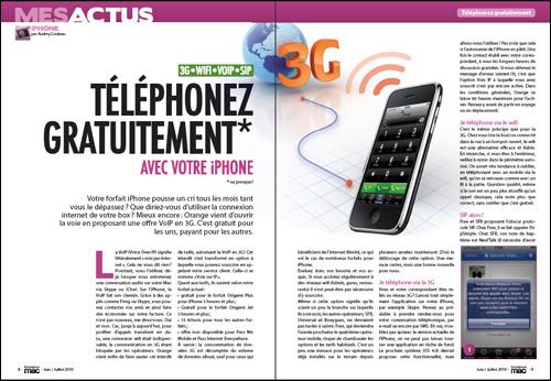 MES ACTUS • iPHONE • Téléphonez gratuitement avec votre iPhone
