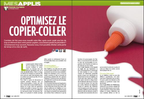 MES APPLIS • Optimisez le copier-coller
