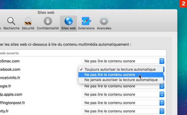 [Safari] Paramétrez individuellement chaque site web consulté