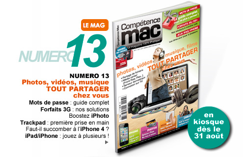 Compétence Mac 13, en kiosque le 31 août