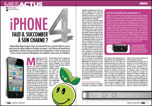 MES ACTUS • iPhone 4, faut-il succomber à son charme ?