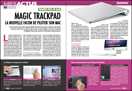 MES ACTUS • Magic Trackpad, la nouvelle façon de piloter son Mac