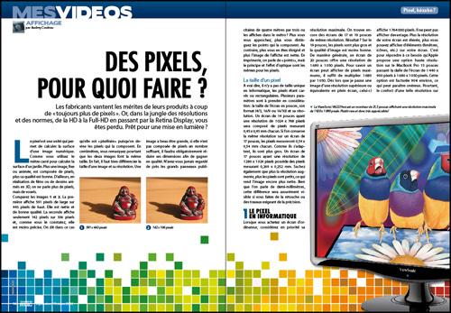 MES VIDÉOS • Des pixels, pour quoi faire ?