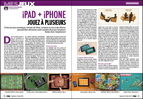 MES JEUX • iPad + iPhone, jouez à plusieurs