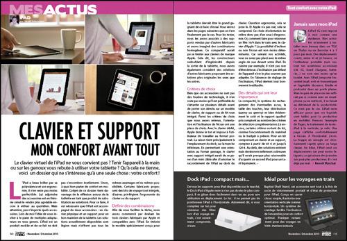 MES ACTUS • Clavier et support pour iPad : mon confort avant tout