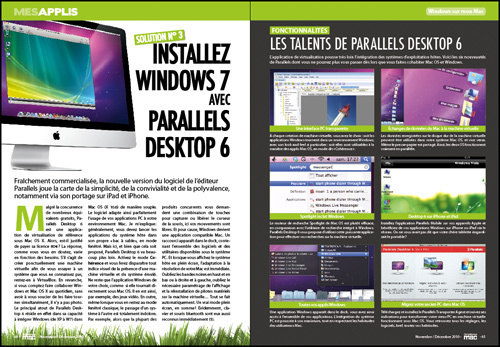 MES APPLIS • DOSSIER • Installez Windows 7 avec Paralells Desktop 6