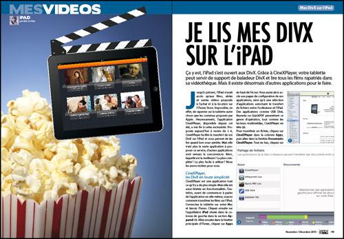 MES VIDEOS • Je lis mes DIVX sur l'iPad