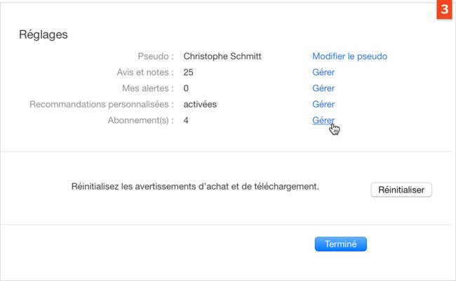 [Stores] Modifiez ou annulez un abonnement à une application ou un service