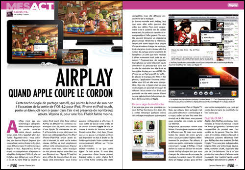 MES ACTUS • Airplay, quand Apple coupe le cordon