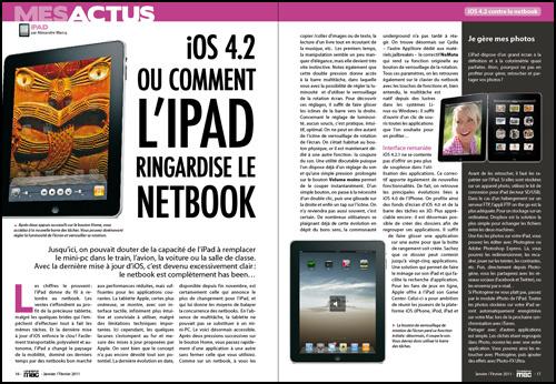 MES ACTUS • iOS 4.2, ou comment l'iPad ringardise le netbook