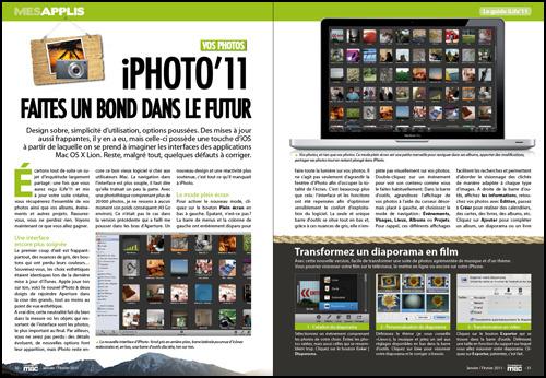 MES APPLIS • DOSSIER • Les nouveautés d'iPhoto'11