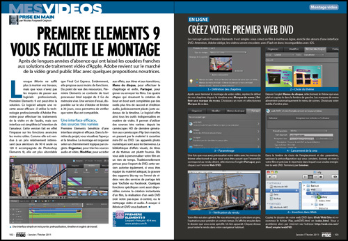 MES VIDEOS • Premiere Elements 9 vous facilite le montage