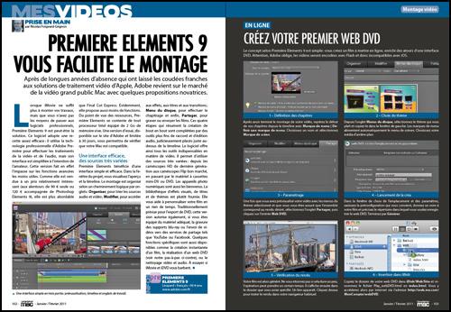 MES VIDEOS • Premiere Elements 9 vous facilite le montage