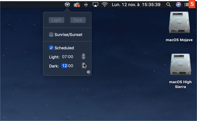 [macOS Mojave] Deux outils gratuits pour basculer entre mode clair et sombre