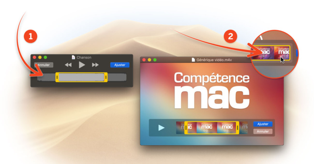 [macOS Mojave] Raccourcissez une vidéo ou un morceau de musique