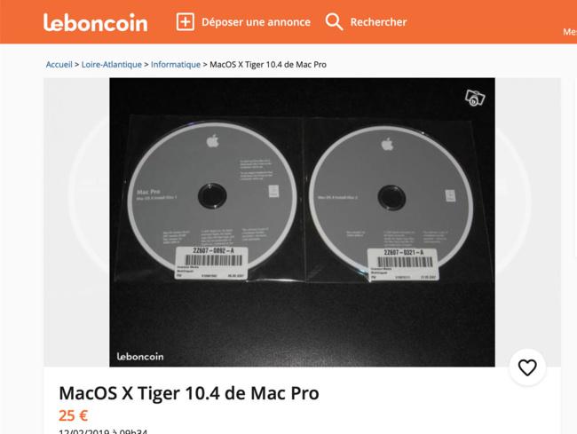 [Collector] Trouvez d'antiques installations de système pour votre vénérable Mac
