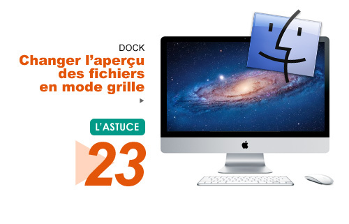 Finder • Changer l'aperçu des fichiers en mode grille