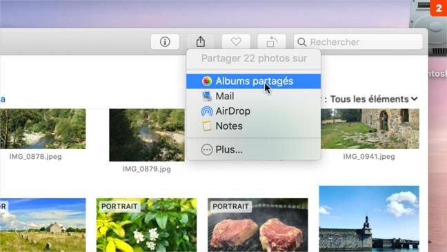 Photos • Partagez des albums photos en quelques clics à l'aide d'iCloud
