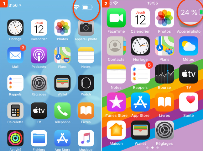 iOS • Afficher le niveau d'autonomie des accessoires Bluetooth