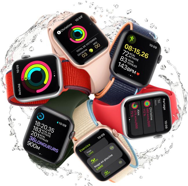 Nouvelles Apple Watch : une famille en pleine santé