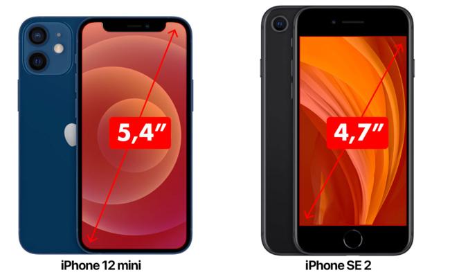 L'iPhone 12 mini est-il plus petit ou plus grand que l'iPhone SE 2 ?