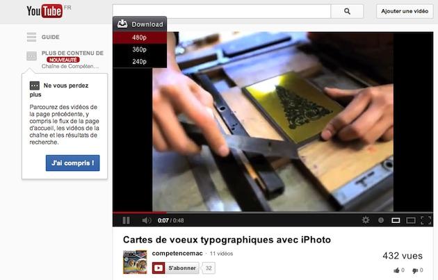 Téléchargez une vidéo depuis YouTube