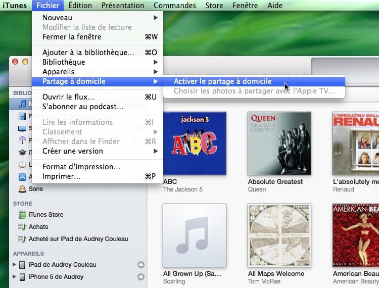 iPhone - iPad • Accédez à votre bibliothèque iTunes