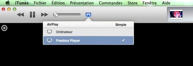 Diffusez votre musique ou vos films directement depuis iTunes vers la Freebox Player