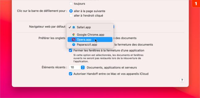 macOS • Remplacer Safari par un autre navigateur web