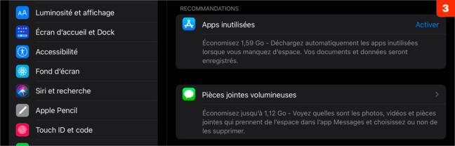 iOS • Vérifiez l'espace disque restant sur votre iPhone/iPad