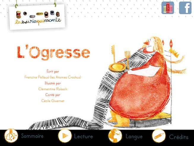 """La souris qui raconte présente à vos enfants """"L'Ogresse"""" sur iPad"""
