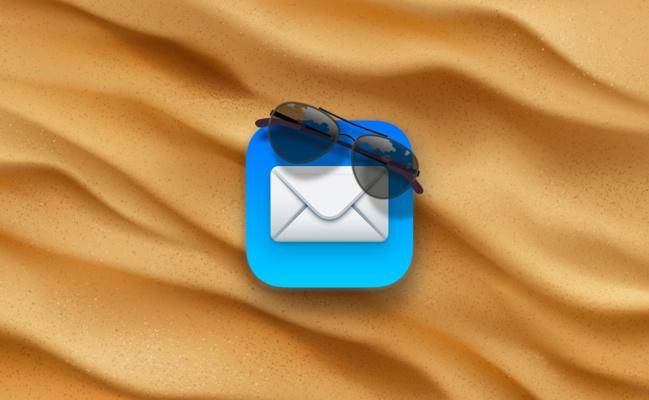iCloud • Créez un message d'absence dans Mail pendant vos vacances