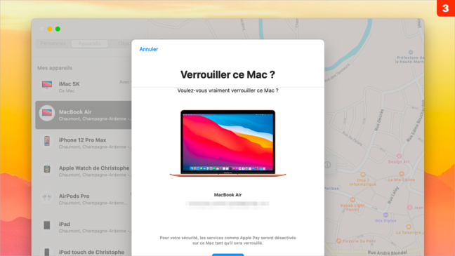 Sécurité • Supprimez les données du Mac à distance