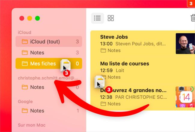 macOS • Classez et organisez l'ensemble de vos notes