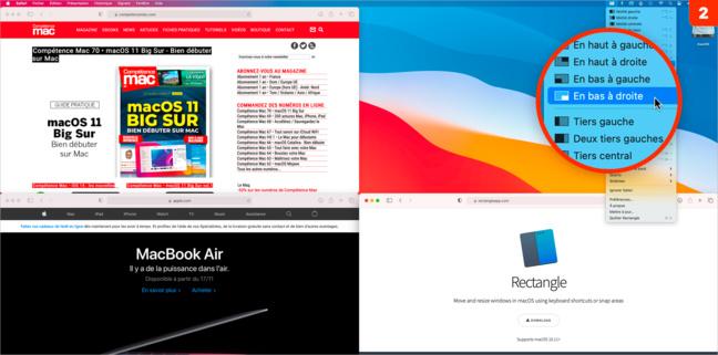 macOS • Disposez précisément les fenêtres à l'aide du clavier avec Rectangle