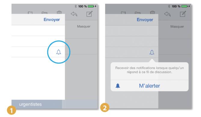 Astuce iPhone iPad • Signaler une réponse importante à un e-mail