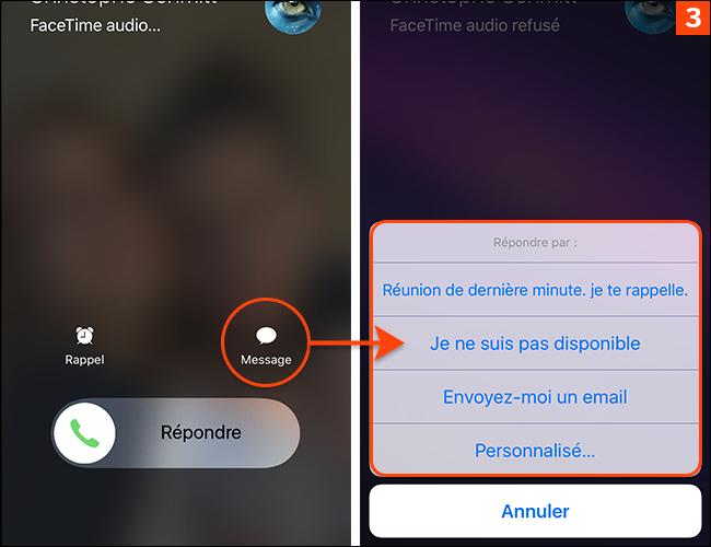 Impossible de répondre à un appel sur l'iPhone ? Personnalisez à l'avance vos messages automatiques !
