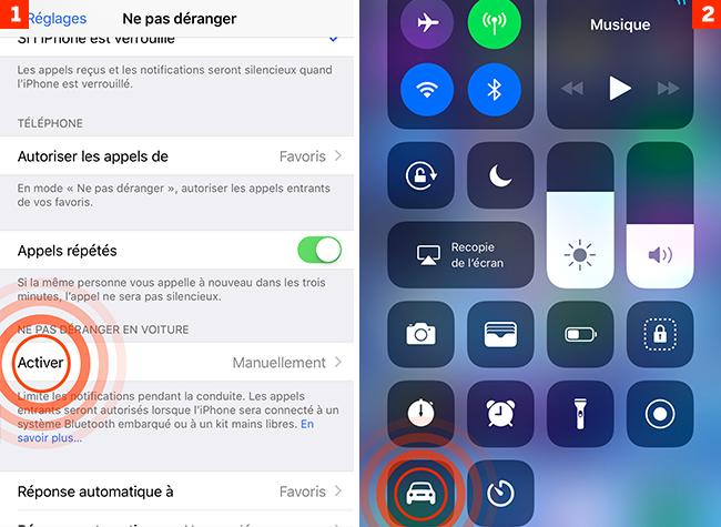 [iOS 11] En voiture, concentrez-vous sur la conduite