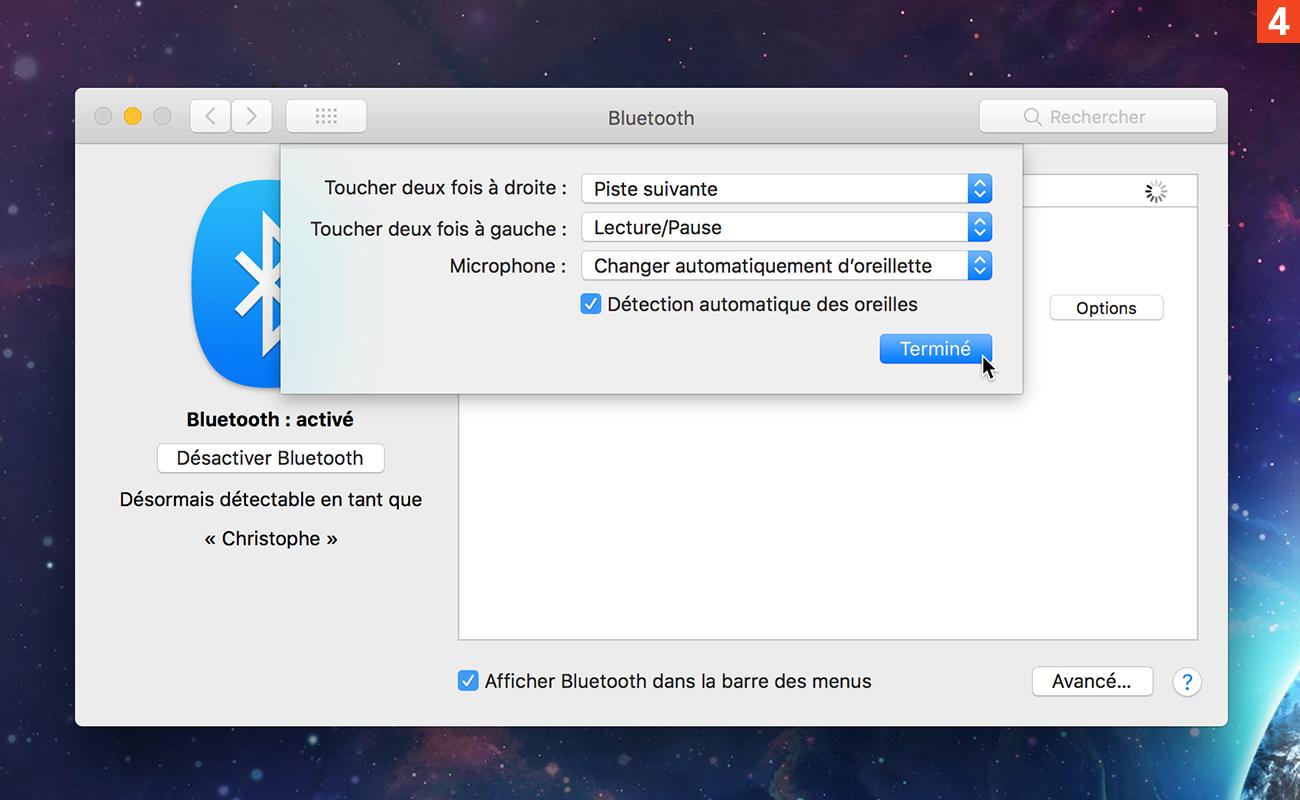 [Réglages] Accédez aux options des AirPods depuis un Mac